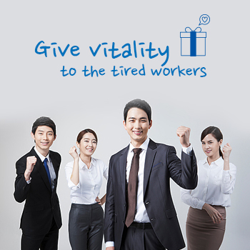 Give vitality to the tired workers
